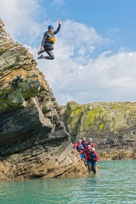 Coasteering: The Welsh are pioneers of this eclectic past-time, which features a blend of ...