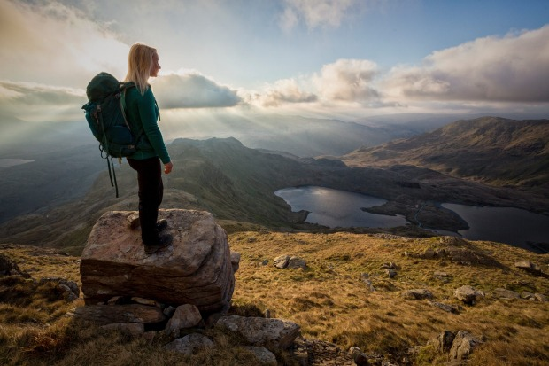 A lot of outdoorsy types come to Wales to climb Snowdon, which, at 1085 metres, is the country's loftiest peak.