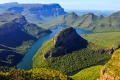 Blyde River Canyon in Mpumalanga, South Africa. The Blyde River Canyon is the third largest canyon worldwide