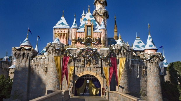 Sleeping Beauty's Winter Castle at Disneyland, California.