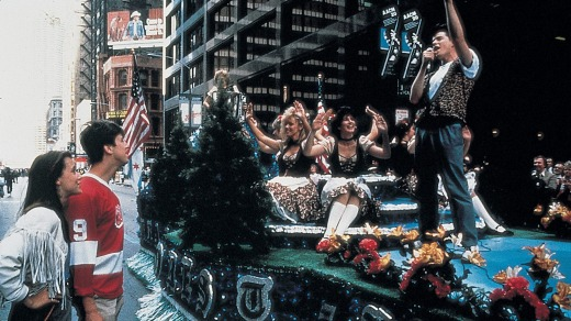 In <i>Ferris Bueller's Day Off</i>, Ferris sings on a float during the Von Steuben Day Parade.
