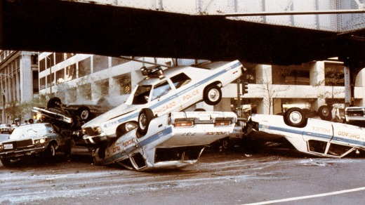 See where the <i>Blues Brothers</i> pile-up stunt was staged.