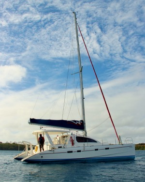 The Time Out catamaran.