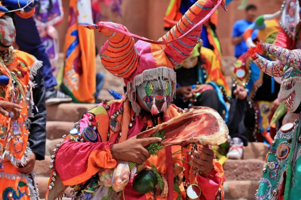 The final day of carnival in Humahuaca, Northern Argentina brings out all of the 'devils' for the final procession ...