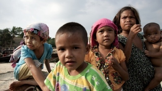 Moken kids, Mergui Islands, Myanmar.