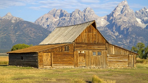 John Moulton Barn in Mormon Row, at the foot of the Teton Range.