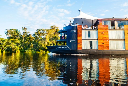A floating hotel ... the Aria Amazon.