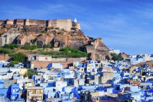 Cityscape of Blue City and Mehrangarh Fort - Jodhpur.