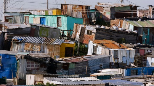 Shanty houses in Soweto.