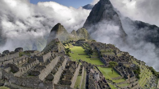 The Incan citadel of Machu Picchu.