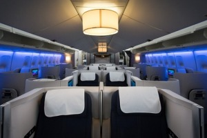 British Airways Boeing 747s, Club World interior.