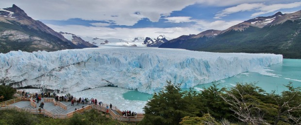 The Perito Moreno Glacier, located in the Los Glaciares National Park in Argentina, is one of only three Patagonian ...