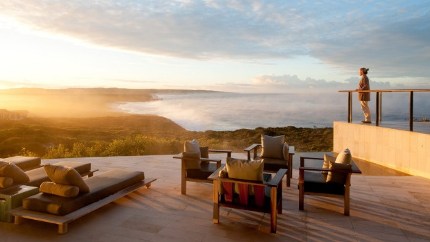 The view from Southern Ocean Lodge, Kangaroo Island, South Australia.
