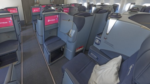 Some business class seats are exposed to the aisle.
