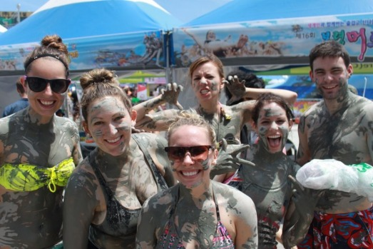 Tough mud at the Boryeong Mud Festival in South Korea.