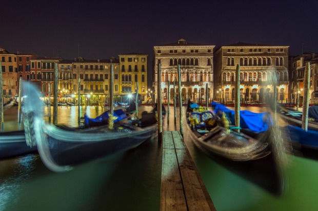 Iconic: Gondolas in Venice.