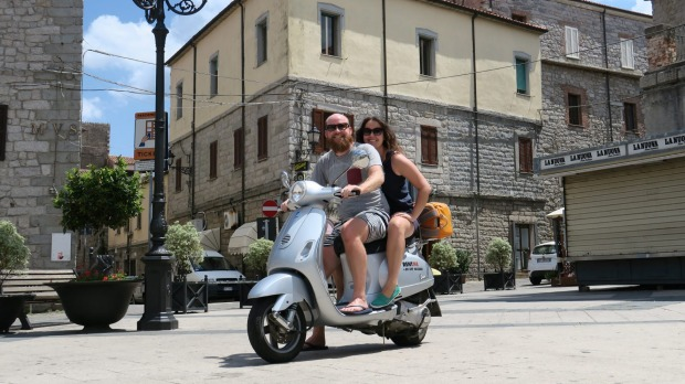 Sardinia is paradise for two small wheels.