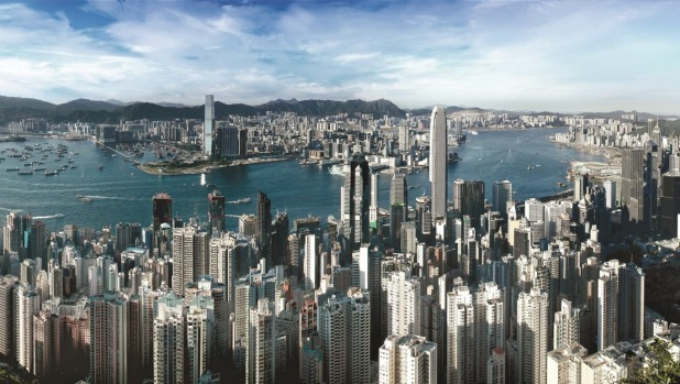 The view from the Peak, Hong Kong.