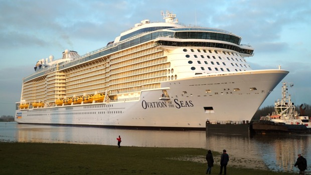 Ovation of the Seas: Australia's first purpose-built cruise giant sent down River Ems, Germany