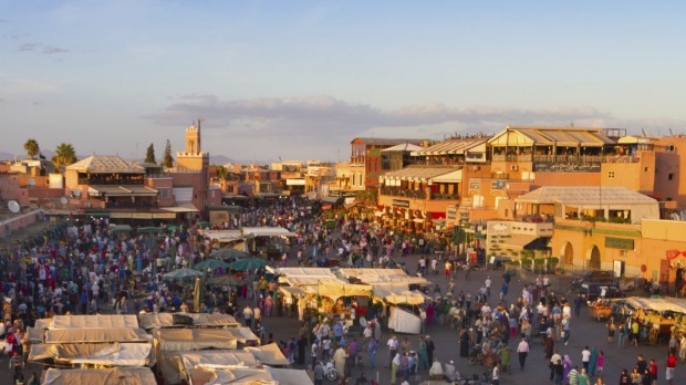 Jamaa el Fna is a square and market place in Marrakesh's medina quarter (old city).