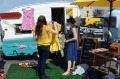 Vintage caravans sell vintage clothing at Brooklyn Flea.