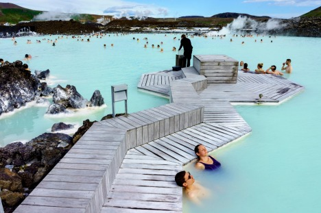 stra27traveller10-smells Blue Lagoon, Iceland  FCK7XP The Blue Lagoon geothermal spa is one of the most visited ...