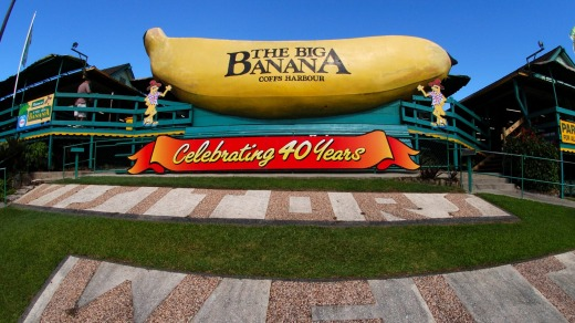 Peel off the highway to visit the Big Banana, at Coffs Harbour.