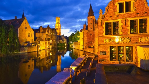 Rosary Quay, in medieval Bruges.