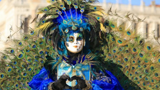 Venice Carnival which ends with the Christian celebration of Lent, 40 days before Easter.