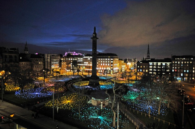 Munro's light installations are world renowned. St Andrew Square in Edinburgh featured a 'Field of Light' in 2014.