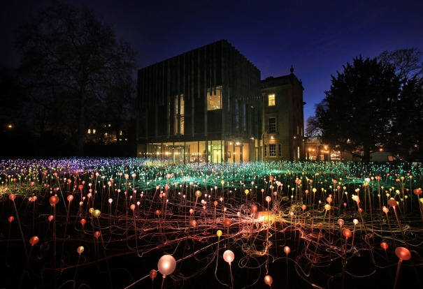 'Field of Light' in the grounds of the Holbourne Musuem in Bath, England, 2011.