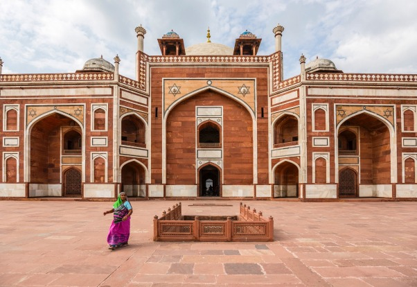One of the terraces of Humayun's tomb. The building is one of the best preserved Mughal monuments and is a UNESCO World ...
