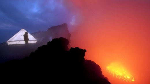 Spending the night on Nyiragongo is an incredible experience.