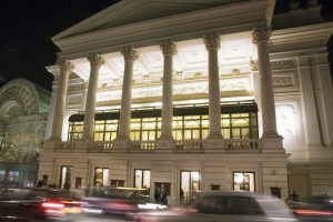The Royal Opera House in Covent Garden looks spectacular lit up at night.
