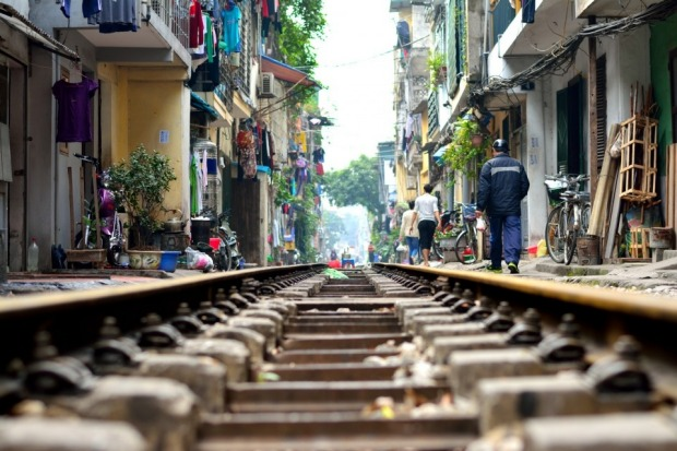 This shot was taken in Hanoi Old Quarter. While on our way for lunch in a taxi, my wife and I jumped out of the taxi as ...