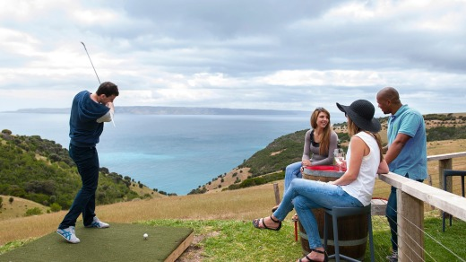 The One Par Golf Course at Dudley Wines on Kangaroo Island.
