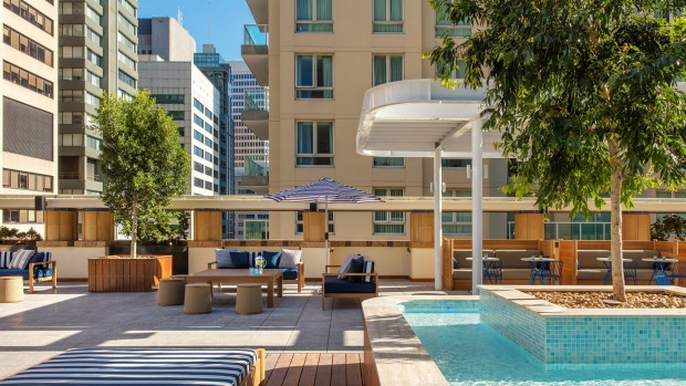 The Primus Hotel Sydney open roof-top bar  offers stunning views of the city.
