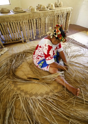 Traditional weaving.