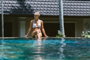 The Honeymoon pool is a welcome way to cool down.