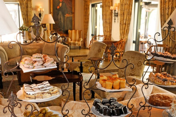Afternoon tea at the Royal Livingstone Hotel Livingstone, Zambia.