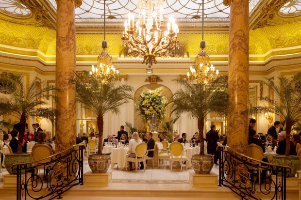 Afternoon tea in Palm Court, the Ritz Hotel, London. This is perhaps the most quintessential place in the world at which ...