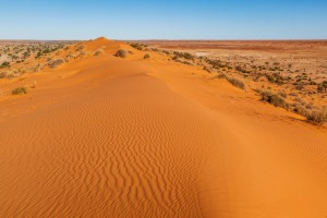 The 'Big Red' sand dune at the eastern edge of the Simpson Desert, near Birdsville.