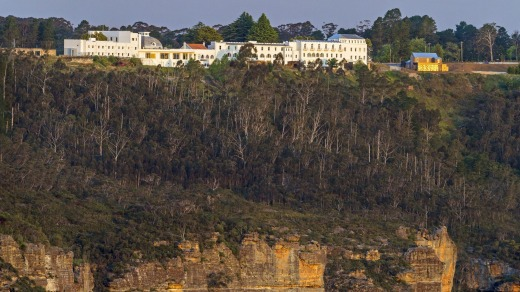 The Hydro Majestic at Medlow Bath in the Blue Mountains makes the most of its views.