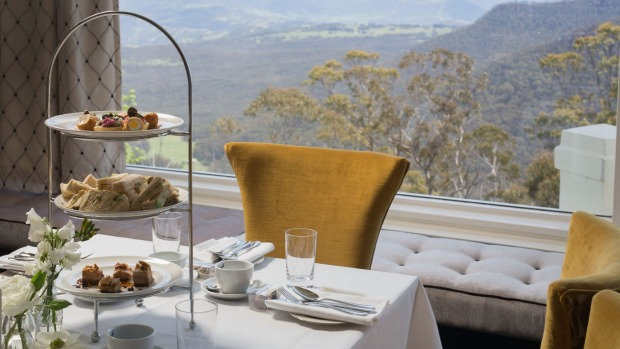 Sandwiches, scotch quail eggs, mushroom labna and pork belly with a majestic view.