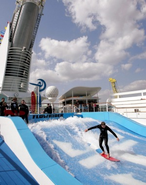 Flowrider aboard Royal Caribbean Freedom of the Seas.