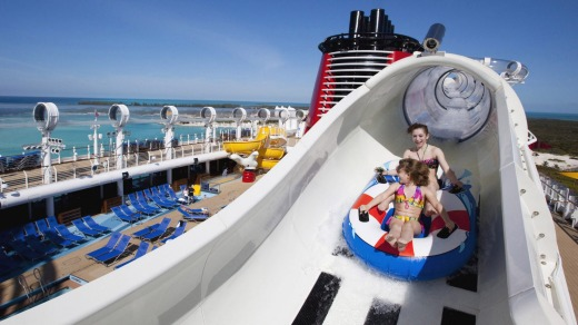 Disney Cruise Line's AquaDuck, the first-ever shipboard water coaster.