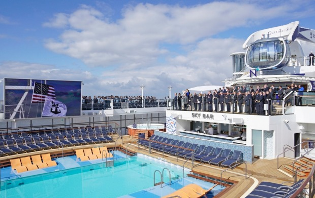 The new member of the Royal Caribbean family, Ovation of the Seas. RCI officially took delivery of its 24th ship in a ...