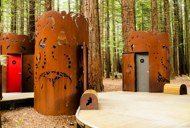 Red Woods toilets, New Zealand.