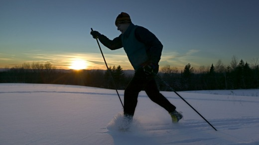 Cross country skiing in Vermont.