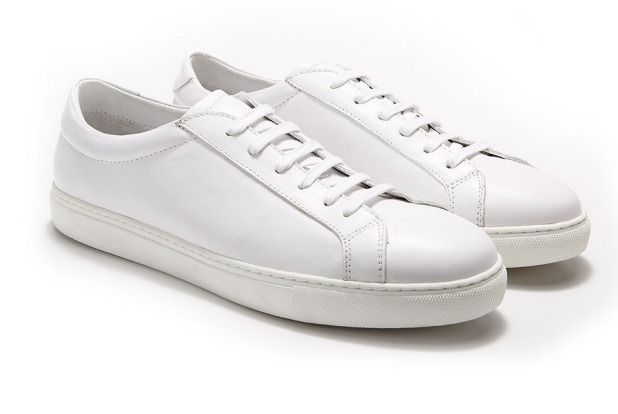 White leather sneakers are the new black
